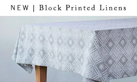 NEW | Block Printed Linens