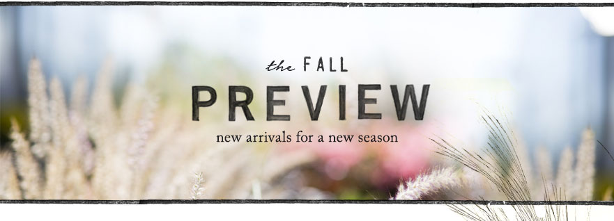 The Fall Preview | new arrivals for a new season