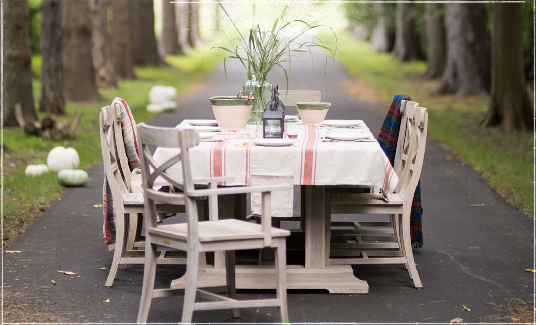 The Long View | Furniture collections for outdoors now + indoors later | Shop Protected Teak Dining