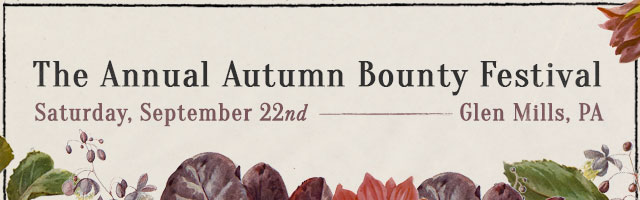 The Annual Autumn Bounty Festival | Saturday, September 22nd