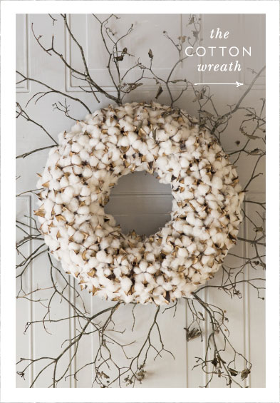 the cotton wreath