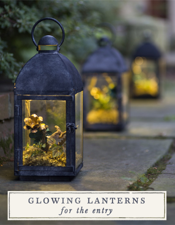 Glowing Lanterns for the Entry