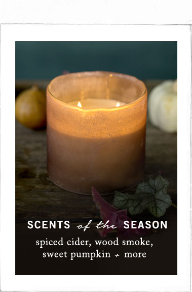 Fall Scents | spiced cider, wood smoke, sweet pumpkin + more
