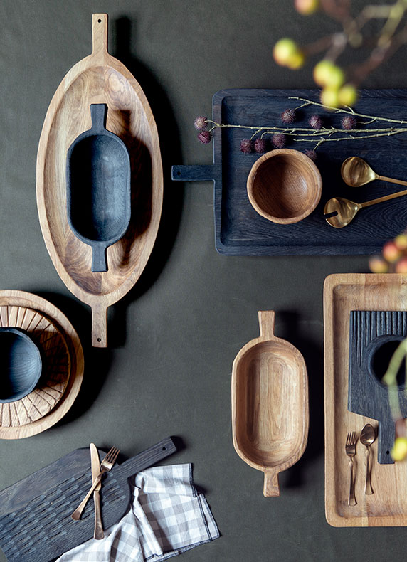 Carved Oak Serveware | by designer Yana Osmanova