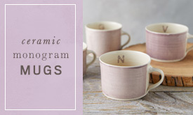 Ceramic Monogram Mugs