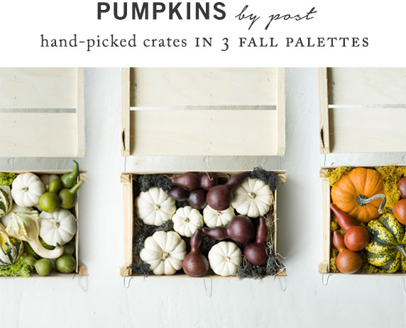 Pumpkin Crates in 3 Fall Palettes