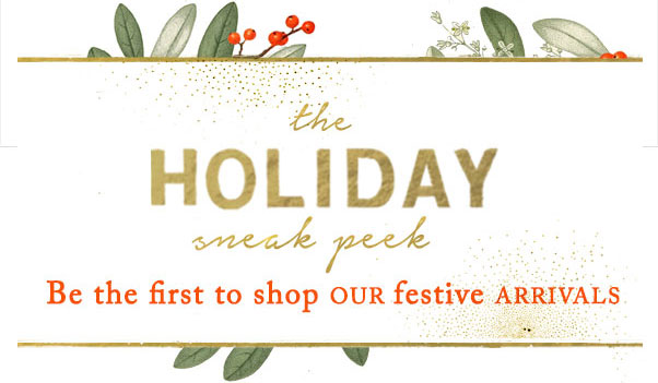 The Holiday Sneak Peek | shop our festive arrivals first