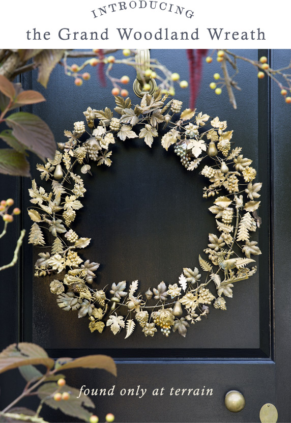 Introducing the Grand Woodland Wreath | found only at terrain