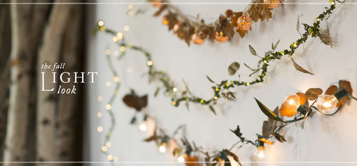 The Fall Light Look | shop lights + garlands
