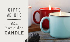 Gifts We Dig | the hot cider candle