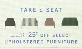 25% off select upholstered furniture