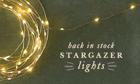 Back in stock: Stargazer lights