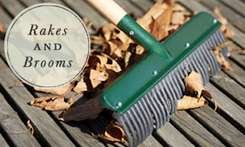 Rakes + Brooms for Fall