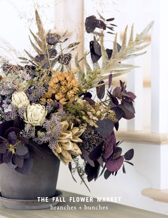 The Fall Flower Market | branches + bunches