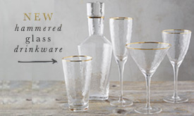 NEW hammered glass drinkware