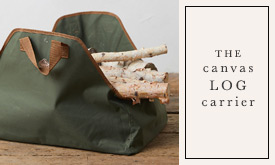 The Canvas Log Carrier