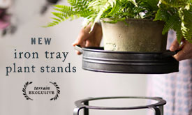 NEW Iron Tray Plant Stands