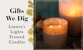 Gifts We Dig | Linnea's Lights Frosted Candles