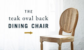 The Teak Oval Back Dining Chair