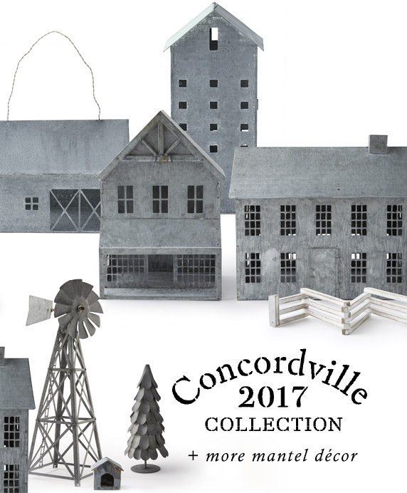 The Concordville Collection | + more mantel décor