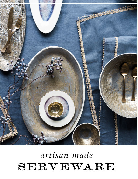 Artisan-Made Serveware