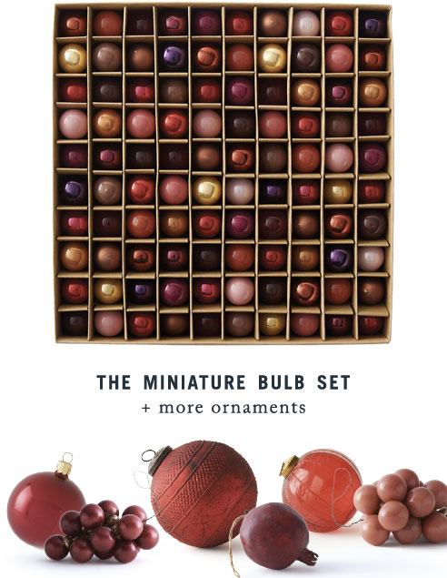 The Miniature Bulb Set + More Ornaments