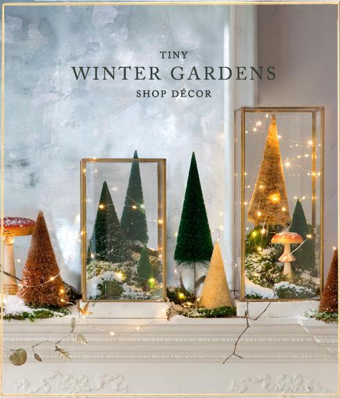 Tiny Winter Gardens | shop decor