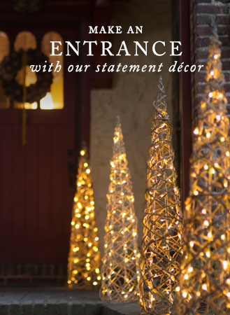 Make an entrance | with our statement decor
