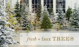 Fresh + Faux Trees