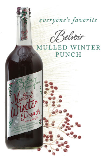 everyone's favorite, belvoir mulled winter punch