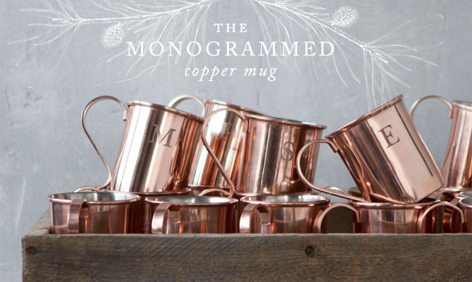 the monogrammed copper mug
