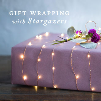 gift wrapping with stargazers