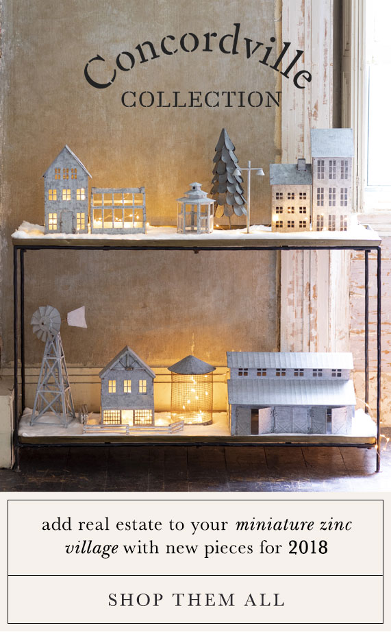 The Concordville Collection | add real estate to your miniature zinc village with new pieces for 2018 | shop them all
