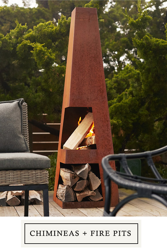 Fire Pits + Chimineas