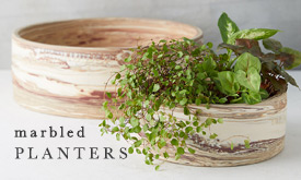 Marbled Earthenware Planters