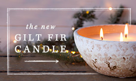 The new gilt fir candle