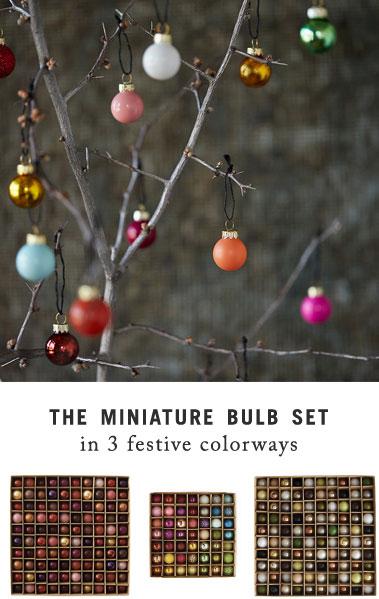 The Miniature Bulb Set | in 3 festive colorways