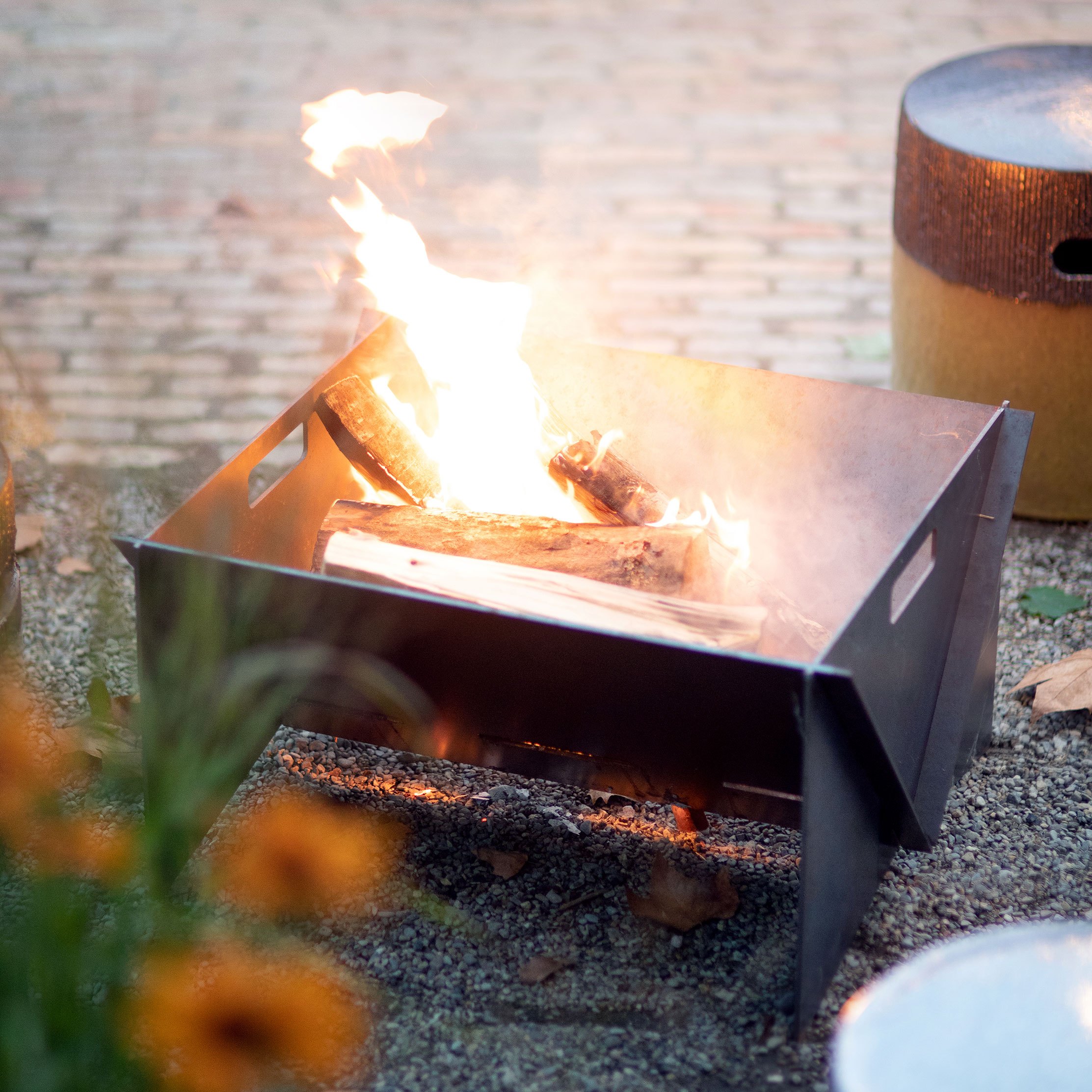 The Iron Wedge Fire Pit
